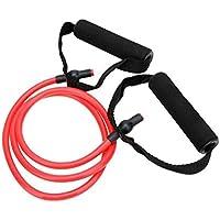 Látex elástico Banda de Resistencia de Pilates del Tubo de tracción por Cable Gimnasio Yoga de la Aptitud Equipo Rojo