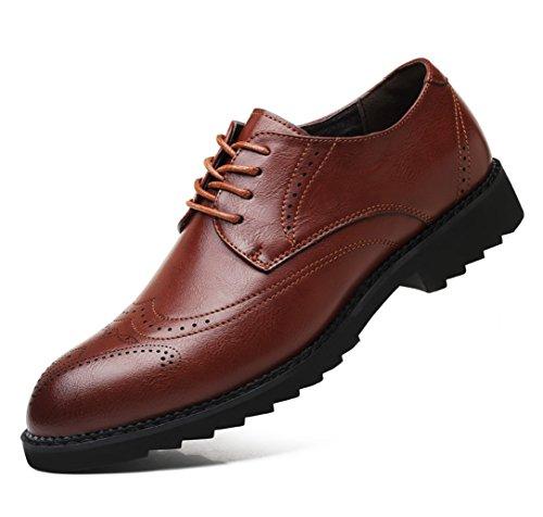 SHANGWU Zapatos De Cuero Casuales para Hombres Zapatos De Hombres  Acentuados Zapatos De Cuero British Bullock 7222f35bf7c70