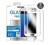 Novago Galaxy S7 Pack de 2 Films Protection écran en Verre trempé Couvre la...