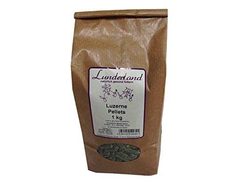 Lunderland Luzerne Pellets 1kg Einzelfuttermittel für Hunde, Katzen und Nager