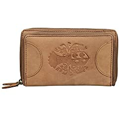Style98 Tan Pure Leather Mens Travel Wallet|| Wallet||Clutch||Womens Wallet