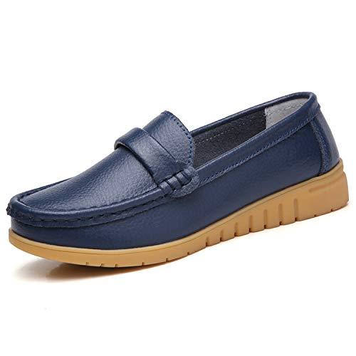 Mocasines Cuero Mujer Loafers Zapato Plano Verano