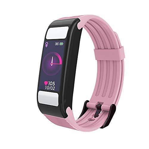 ZUEN Smart Watch, Body Fat Monitor Schrittzähler Fitness Tracker mit Pulsmesser und Schlafmonitor IP67 Smart Bracelet,Pink