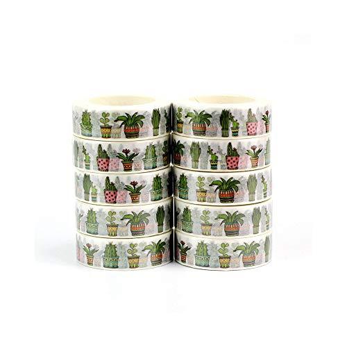 s Nette Topfpflanzen Washi BänderPapier DIY Planer Masking Tape Klebebänder Aufkleber Dekorative Schreibwaren ()