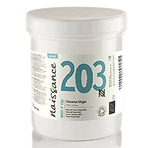 Naissance Organic Virgin Coconut Oil (solid) (#203) 500g - Pure, Natural, Certified Organic & Unrefined - Moisturising & Conditioning - Ideal for DIY Beauty Recipes