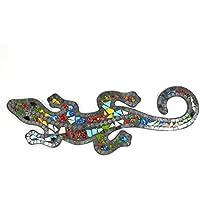 Artisanal Gecko Margouillat - Salamandra de Pared, 60 cm, diseño de Mosaico de Vidrio