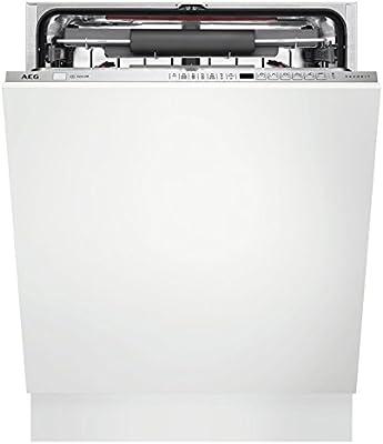 AEG FSE73700P Totalmente integrado 15cubiertos A+++ lavavajilla - Lavavajillas (Totalmente integrado, Tamaño completo (60 cm), Acero inoxidable, Frío, Caliente, 15 cubiertos, 42 dB)