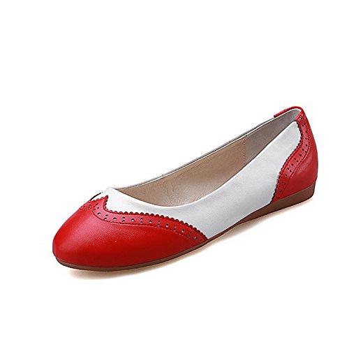 Voguezone009 Cores Vendas Consumo Várias Torno Baixo Bombas Vermelhos Em Sapatos De Toe Senhoras dxgfwIUg