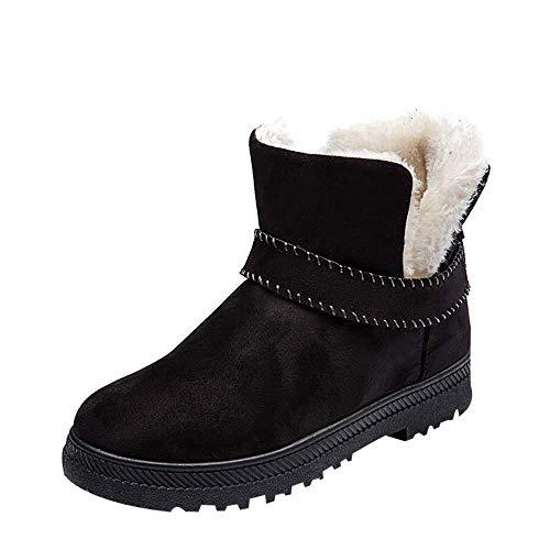 TianWlio Stiefel Boots Schuhe Stiefeletten Damen Herbst Winter High Heels Blockabsatz Profilsohle Warm Gefüttert Boots Halbschaft Stiefel Stiefeletten Damenschuhe Stiefeletten Schnürstiefeletten