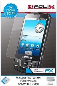 atFoliX Samsung Galaxy GT-i7500 Displayschutzfolie (3 Stück) - FX-Clear, kristallklare Premium Schutzfolie