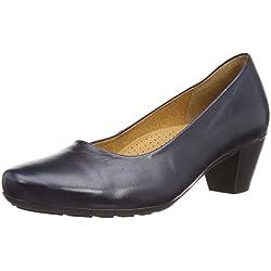 Gabor Brambling, Damen Pumps, Blau - Blue Leather - Größe : 39 EU (6 UK)