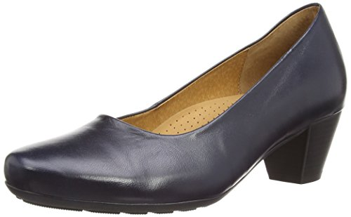 Gabor  Brambling,  Damen Pumps , Blau - Blue Leather - Größe : 38 EU (5 UK) (Damen Pumps Größe 5)
