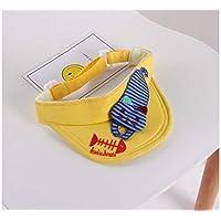 FOUGNOGKISSS Estilo Gato Vacío Superior Sombrero para el Sol Visor al Aire Libre Sudadera Transpirable Sombrero para el Sol Gorra de béisbol (Color : Yellow, tamaño : 48-52cm)