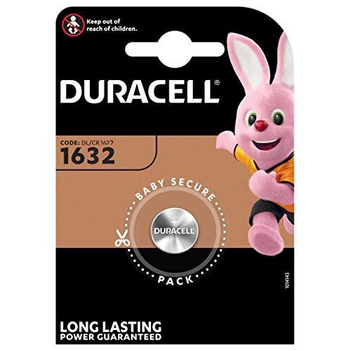 Duracell 5000394007420 Lithium 1632 Knopfzellenbatterie, B1 Orange/Schwarz