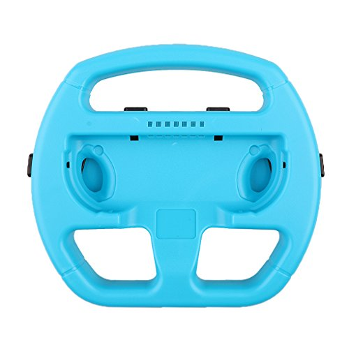 MagiDeal Ergonomic Steering Wheel Handle Controller Grips for Nintendo Switch Joy-con Blue