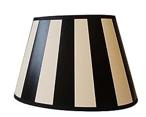 lampenschirm oval schwarz wei gestreift 20 cm art nr ls 234 k che haushalt. Black Bedroom Furniture Sets. Home Design Ideas