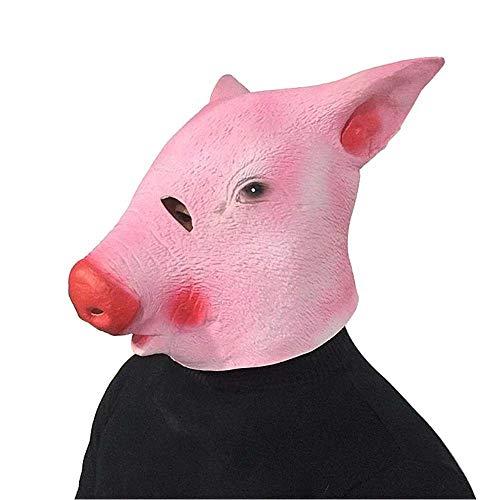 Gesicht Kostüm Jugend Der Zwei - WENQU Wildschwein Maske Octad Ring Fauna Kopfbedeckung Spoof Latex Kopfschmuck Halloween Cute Show Requisiten Lustige Cosplay (Color : 2, Size : One size)
