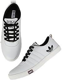 BADLAV Men White_Addi Casual Lace Up For Men Shoe