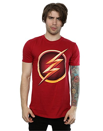 DC Comics Herren The Flash Emblem T-Shirt X-Large Kardinal (Rot Kardinal Tee)