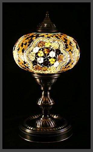 Gold-mosaik-tisch-lampe (Mosaiklampe Mosaik - Tischlampe XL Stehlampe orientalische lampe Gold Samarkand-Lights)