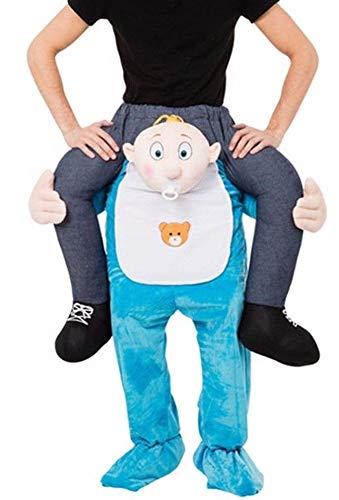 M&M Smartek Carry Me Baby Neuheit Huckepack darauf Reiten Me Maskottchen Herren Kostüm Carry Huckepack Unisex ()