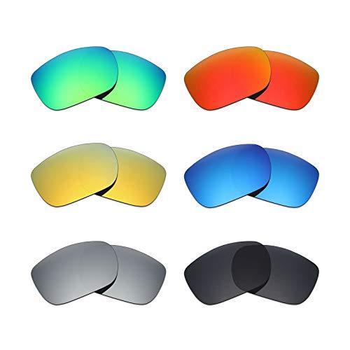 MRY 6Paar Polarisierte Ersatz Gläser für Oakley Twoface Sonnenbrille