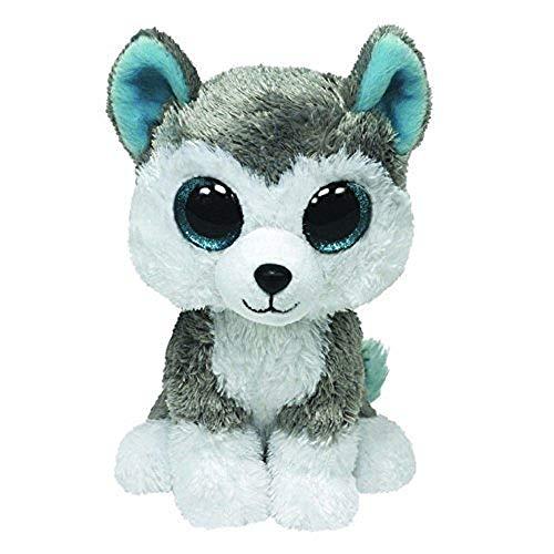 "Beanie Boo Dog - Slush - Husky - 24cm 9"""