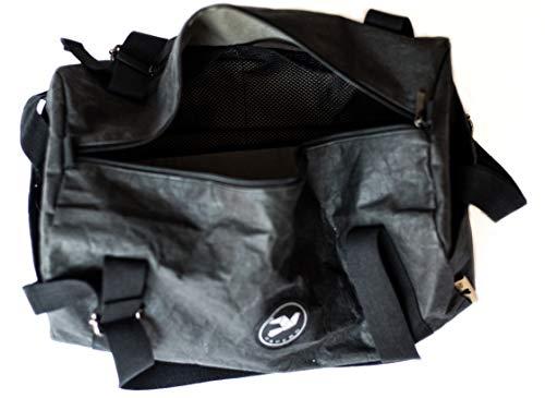 Papero ® Sporttasche aus Kraft- Papier ♻ | Ultra minimalistisch Herren Damen, Robust, Wasserfest ✅ Vegan fair nachhaltig ✅ Urban Style|FSC Zertifiziert | Reisetasche, Weekender - 4