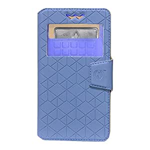 Jo Jo Cover Toto Series Leather Pouch Flip Case With Silicon Holder For Philips I928 Dark Blue