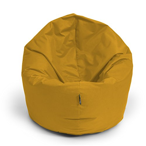 Sitzsack BuBiBag 2-in-1 100cm durchmesser Funktionen mit Füllung Sitzkissen Bodenkissen Kissen Sessel BeanBag Joga 30 Farben (sand)
