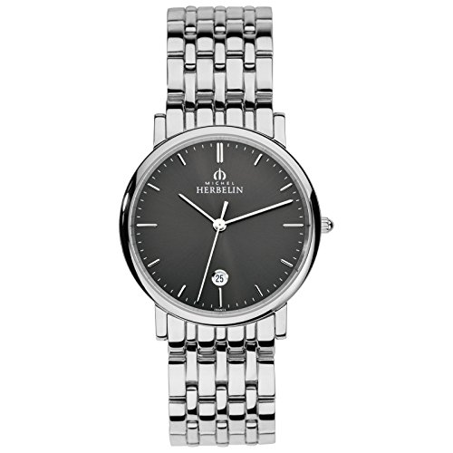 Michel Herbelin Classic Reloj de hombre plata/gris 12543/B14