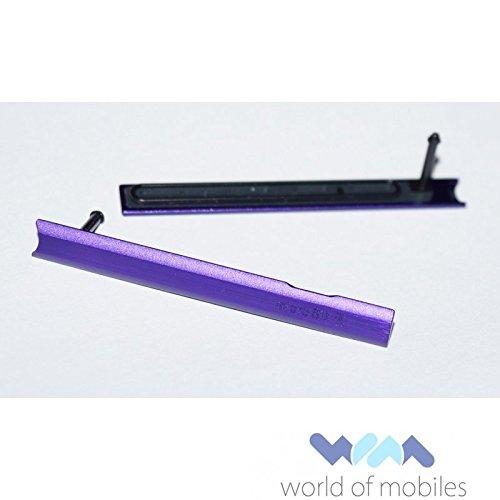 Original Sony SD-Cover purple / lila für Sony C6802, C6806 Xperia Z Ultra (Speicherkarten Abdeckung, Dichtung, Kappe,) - 1276-0477