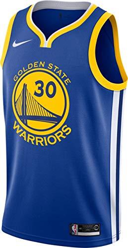 Nike GSW M Nk Swgmn JSY Road T-Shirt 2a Golden State Warriors Basketball, Herren XXL Blau (Rush Blue) / Weiß/Gelb