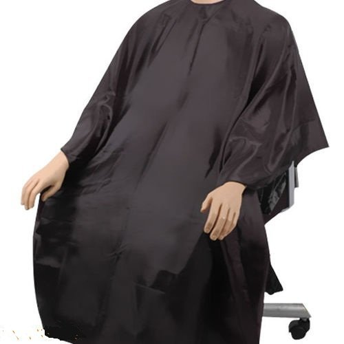 SC02 HAIR CUTTING GOWN SALON BARBERS CAPE - BLACK