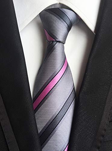 Yuany Herren Classic Silk Plaid Streifen Tis Jacquard Woven Tie Checks Krawatte Check-krawatte Tie