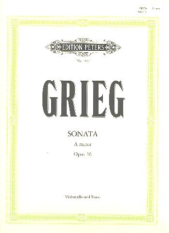 Cello Sonata in a Minor Op.36 Violoncelle par Edvard Grieg