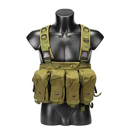 Gilet tattico multifunzionale gilet di nylon grembiule campo combattimento formazione di sopravvivenza alpinismo tiro autodifesa equipaggiamento protettivo escursionismo camuffamento fango verde,green