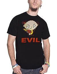 Family Guy T Shirt Stewie Griffin Evil Logo Official Mens Black