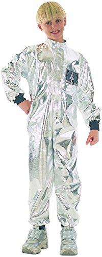 Kinder Fancy Party Feier Boy Spaceman Astronaut Woche Tag Outfit silber UK Gr. L, (Kostüm Uk Astronaut)