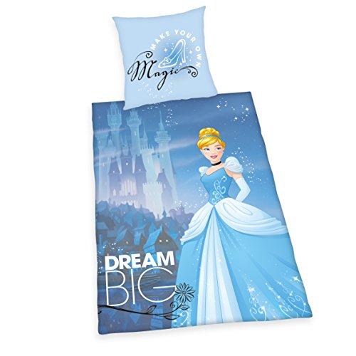 Herding 4479224050 Bettwäsche Disney's Princess, Kopfkissenbezug: 80 x 80 cm + Bettbezug: 135 x 200 cm, 100 % Baumwolle, Linon