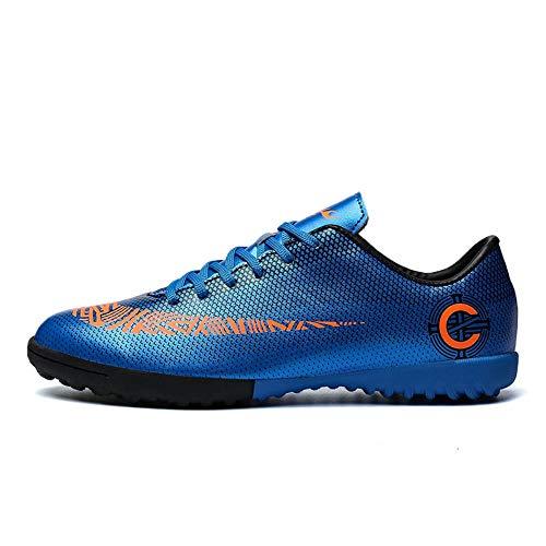 YAYADI Erwachsene Männer Outdoor Fussball Stollen Schuhe High Top Fußballschuhe Ausbildung Sport Sneaker Schuhe Plus,42