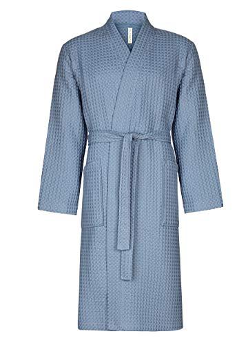 Taubert SPA Nature - Albornoz para Hombre Estilo Kimono, 120 cm de Largo, algodón piqué Water 4500...