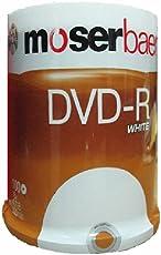 Moserbaer 16x 4.7GB DVD-R White (100 DVDs)
