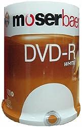 Moserbaer 16x 4.7GB DVD-R White(100 DVDs)