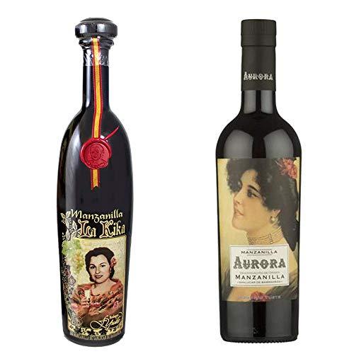 Manzanilla La Kika Y Manzanilla Aurora - D. O. Manzanilla De Sanlúcar De Barrameda - 2 Botellas De 750 Ml