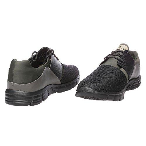 Chaussures de sport Hommes Cuir véritable et Tissu synthétique Avirex Mod. Diadème d'équipage 162-M-176-194 Noir - Militaire Vert - Gris