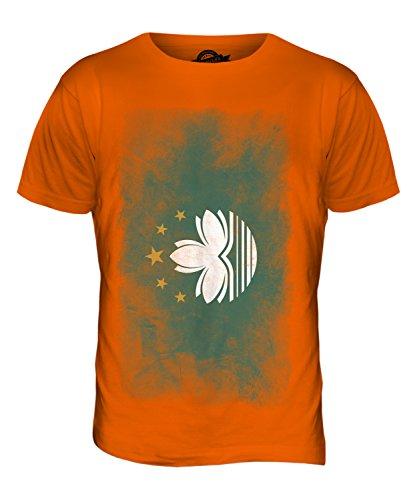 CandyMix Macau Verblichen Flagge Herren T Shirt Orange