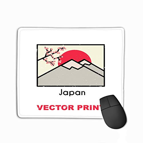 Non-Slip Thick Rubber Large Mousepad 11.81 X 9.84 Inch Asian Print Also can be Used Postcard Mug Poster Magnet Another Apparel Souvenir Products Design