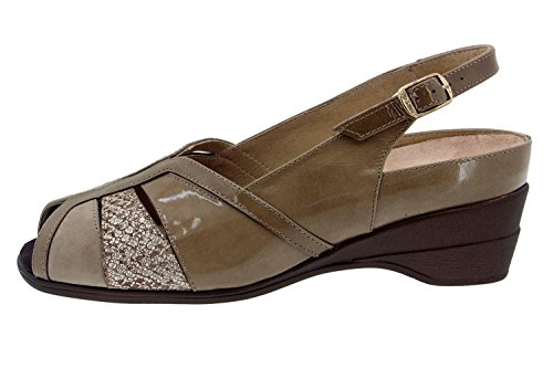 Scarpe donna comfort pelle Piesanto 4156 sandali soletta estraibile comfort larghezza speciale
