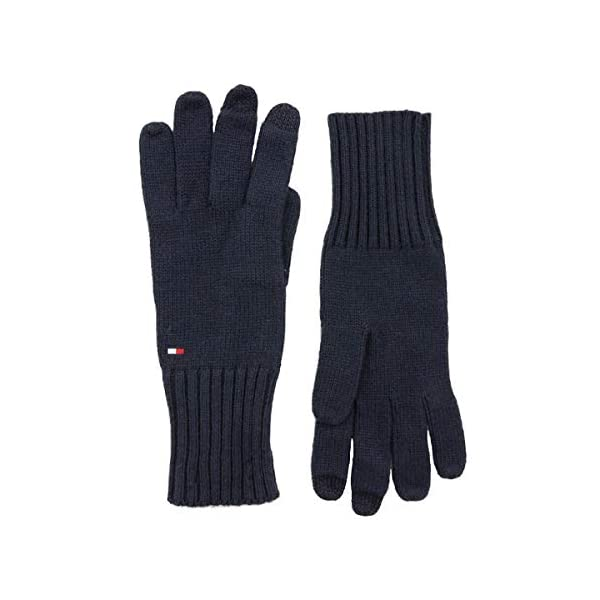 Tommy Hilfiger Soft Knit Gloves Guantes, Azul (Tommy Navy 413), Talla única (Talla del fabricante: OS) para Mujer